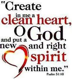 Clean my spirit