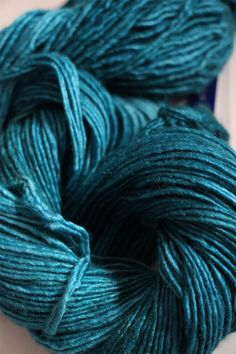 Silky Merino Yarn from Malabrigo in Teal Feather