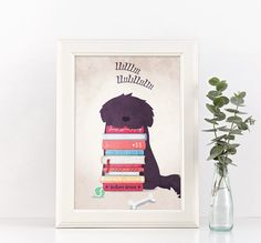 Newfoundland dog  sleepy newf van joinanotherview op Etsy