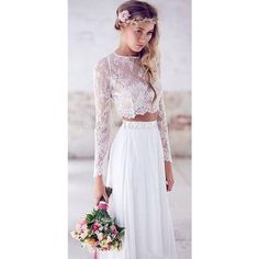 Beach Wedding Dresses to Inspire You ❤ liked on Polyvore featuring dresses, beach dress and beachy dresses
