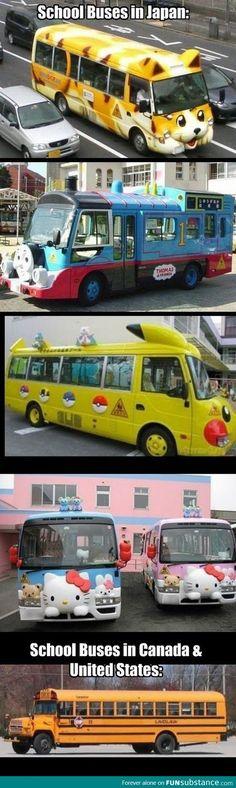 Japanese vs. American school buses