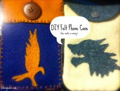 3 Chic Geeks - felt phone cases