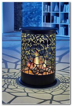 Vulcano ONE 360°  Opti-V Effektfeuer Das authentisch wirkende Feuer und die flimmernde Holzglut sind rundum sichtbar