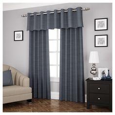 Experience the silence and darkness of Eclipse blackout curtains. Perfect for any room in the home, the Eclipse Deron curtain panel features the supreme Thermalayer™ construction, blocking over 99 percent of light and reducing unwanted noise. The National Sleep Foundation confirms that blocking light and noise can help to create a more optimal sleep environment for children and adults. Perfect for home decorating, the innovative foam back construction provides all of the eclipse ben...