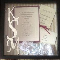 Our wedding shadow box <3