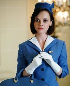 """Christina Ricci in the short lived """"Pan Am"""" TV show. Seriously, why can't more stewardesses look like this!?"""