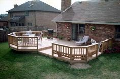 Multi Level Pressure Treated Wood Deck With Floating