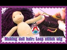 DIY | Doll Wig Step by Step Tutorial: Crochet Cap/ Hook and Loop Method (LONG HAIR)| Sami Dolls Tutorials - YouTube