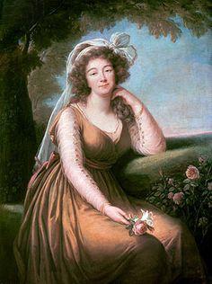 Elisabeth-Louise Vigee Le Brun | Comtesse du Barry Holding a Rose, 1778