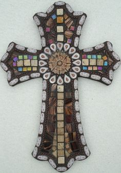 Items similar to Cornerstone - Mosaic Cross on Etsy Mosaic Tile Art, Mosaic Diy, Mosaic Crafts, Mosaic Projects, Mosaic Glass, Mosaics, Stained Glass, Mosaic Ideas, Tiles