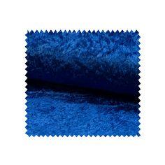 Tissu Panne De Velours Uni Royal - Tissus des Ursules
