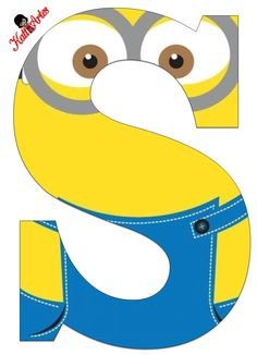 Typography - Minion Alphabet - Letter S Minion Birthday Banner, Minion Theme, Minion Party, My Minion, Minion Craft, Birthday Themes For Boys, Alphabet And Numbers, Alphabet Letters, Minions Quotes