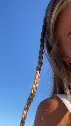 Aesthetic Hair, Summer Aesthetic, Summer Hairstyles, Cute Hairstyles, Hair Inspo, Hair Inspiration, Estilo Madison Beer, Tumbrl Girls, Foto Blog