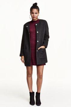 Cappotto in misto lana bouclé   H&M