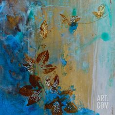 Jewelled Leaves XVII Art Print by Jennifer Hollack at Art.co.uk