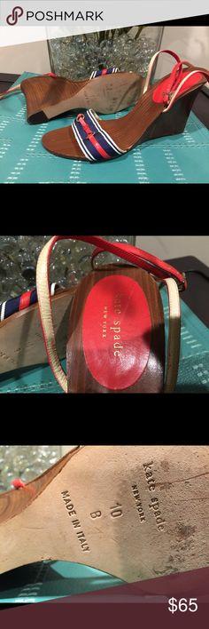 Kate Spade Nautical Wedge size 10 Kate Spade Nautical Wedge size 10 kate spade Shoes Wedges