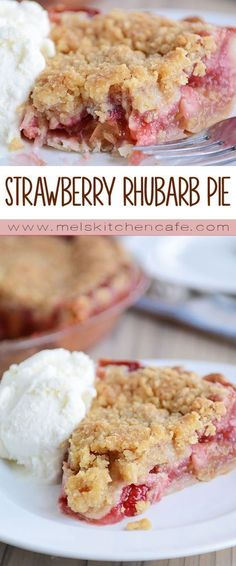This best-ever strawberry rhubarb pie is filled to brimming with juicy sweet strawberries tart rhubarb and the most delectable buttery streusel topping. Its my favorite summer pie! The post The Best Strawberry Rhubarb Pie Brownie Desserts, Rhubarb Desserts, Just Desserts, Delicious Desserts, Yummy Food, Easy Rhubarb Recipes, Coconut Dessert, Pie Dessert, Dessert Recipes