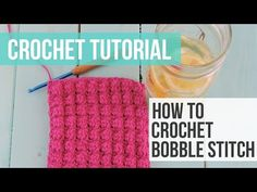 VIDEO: Bobble Stitch Learn how to make your own reusable crochet wet mop pad! This wet mop pad is designed to fit the standard Swiffer Wetjet. Scrubbies Crochet Pattern, Bobble Crochet, Crochet Ripple, Bobble Stitch, Crochet Dishcloths, Chunky Crochet, Crochet Stitches Patterns, Swiffer Pads, Crochet For Beginners