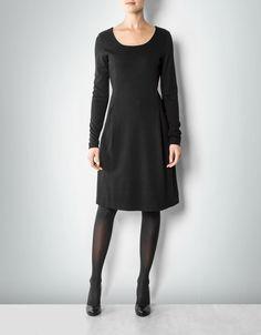 Marc O'Polo Damen Kleid schwarz mit Falten-Details empfohlen von Deinen Schwestern