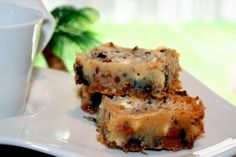 Magic Cookie Bars or Seven Layer Cookies from Food.com: These are the best cookie bars ever and they're incredibly easy! You can substitute whatever you like on these also. I overload it with chocolate and white chocolate chips, butterscotch chips, and peanut butter chips but skip the nuts. From Eagle Brand.