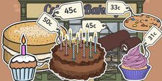 South African Rand  Priced Cakes Mixed up to 50c -  priced, cake