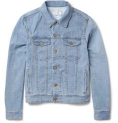 418bed3f71 AMI Slim-Fit Lightweight Washed-Denim Jacket   MR PORTER Designer Denim  Jacket,