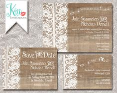 Printable Wedding Invitations Country Chic by KissInvitations, $25.00
