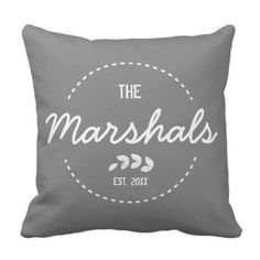 Household New House Established Yr White Stamp Throw Pillow.  Find out even more by clicking the image link