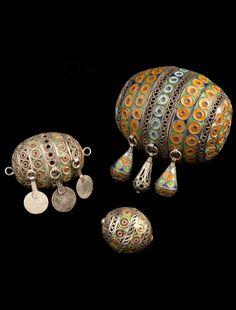 Africa   Silver and enamel Berber beads   ©Nicolas Mathéus/Musée Berbère
