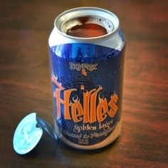 Pennsylvania-based brewing company Sly Fox's topless beer can.