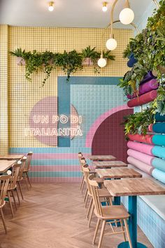Итальянский ресторан Piada в Лионе: работа бюро Masquespacio   AD Magazine