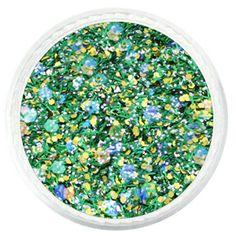 Forever Green Glitter – Glitties Custom Mixed Solvent Resistant Glitter  #glitter #glitties #green #winter #christmas #holiday
