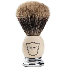 Parker Safety Razor 100% Best Badger Bristle Shaving Brush — White & Chrome Handle with Free Stand at http://suliaszone.com/parker-safety-razor-100-best-badger-bristle-shaving-brush-white-chrome-handle-with-free-stand-2/
