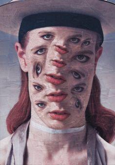 Strange and surreal portrait collages by Lola Dupré. More on ignant.de...