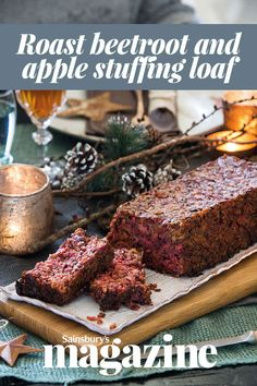 This roast beetroot and apple stuffing loaf from chef Tristan Welch is a versatile stuffing that is also a great vegetarian alternative to a meaty roast Vegetarian Stuffing, Vegetarian Cooking, Vegetarian Recipes, Cooking Recipes, Roast Recipes, Apple Recipes, Apple Stuffing, Veggie Christmas, Roasted Apples