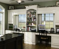 Starting to get ideas for converting our formal living room into a home office for two.
