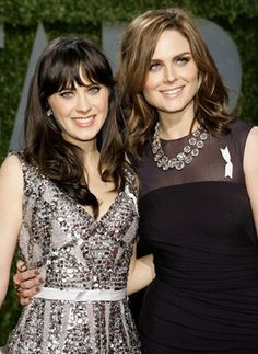 Zooey + Emily Deschanel! I had no idea they were sisters, I love them both!