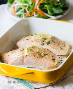 Easy Oven Baked Salmon Recipe - A healthy and easy 30 minute recipe for dinner