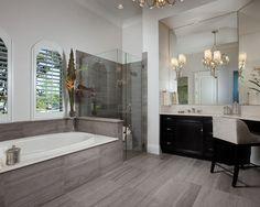 Gray tile bathroom what color walls gray bathroom decor great unique modern bathroom tile gray gray Grey Modern Bathrooms, Modern Bathtub, Modern Bathroom Tile, Contemporary Bathroom Designs, Modern Shower, Small Bathrooms, Tile Bathrooms, Bathroom Vanities, Contemporary Interior