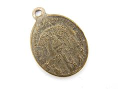 Rare Vintage Dutch Our Lady Of Montaigu - Miraculous Medal Catholic Medal - Virgin Mary Religious Brass Medallion  by LuxMeaChristus on Etsy