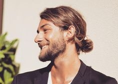 Longer hair for men has become mainstream and with it came the man bun. What is a man bun? Well, it's a cool alternative to the ponytail for pulling long hair up and back. A bun it Top Hairstyles For Men, Man Bun Hairstyles, Pulled Back Hairstyles, Hipster Hairstyles, Asian Men Hairstyle, Cool Mens Haircuts, Hairstyle Ideas, Man Bun Undercut, Man Bun Haircut