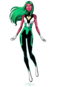 VIV VISION So happy that people are liking my take... - LUCIANO VECCHIO Marvel Fan Art, Marvel Comics Art, Marvel Heroes, Female Character Design, Character Design Inspiration, Comic Books Art, Comic Art, Heros Comics, Arte Grunge