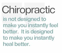 Chiropractic restores normal function and allows your body to heal itself. Pain relief just happens to be a perk.