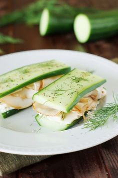 Low-Carb Smoked Turkey & Cucumber Sandwiches ~ a versatile little low-carb lunch idea.   www.thekitchenismyplayground.com