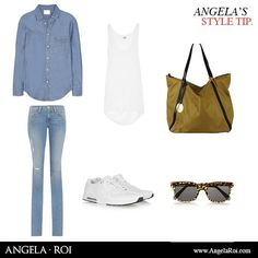 WEEKEND STYLE TIP.  Walk and carry comfortably!   Shop Mustard casual bag at: www.angelaroi.com