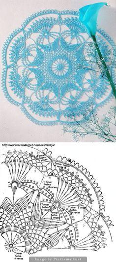 gorgeous crochet doily - created on Crochet Doily Diagram, Crochet Doily Patterns, Crochet Mandala, Crochet Art, Crochet Home, Crochet Motif, Crochet Designs, Crochet Doilies, Crochet Bedspread