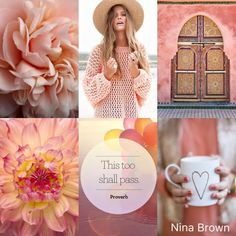 Mood Colors, Peach Colors, Wall Colors, Collages, Beautiful Collage, Christian Facebook Cover, Colour Board, Everything Pink, Godly Woman