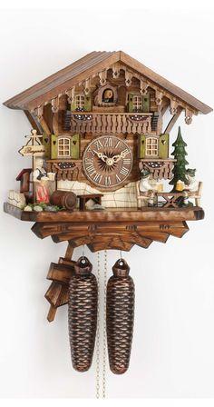 Orologio a cucù Casetta tipo Foresta Nera con uomini che beveno birra KA 884: Amazon.it: Casa e cucina