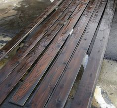 The latest trend in wood siding? Burned, charred siding.