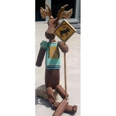 Home :: Décor :: Moosecot Crossing Guard by RockingHorse Past, $35 Artisan, Home Decor, Craftsman, Homemade Home Decor, Interior Design, Home Interiors, Decoration Home, Home Decoration, Home Improvement